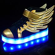 男の子 靴 PUレザー 夏 / 秋 コンフォートシューズ / アイデア / ライトアップシューズ スニーカー ウォーキング 編み上げ / かぎホック / LED のために ゴールド