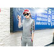 Mujer Chándal Manga Larga Cómodo Pantalones/Sobrepantalón Top para Ejercicio y Fitness Running Algodón Blanco Negro Gris M L XL