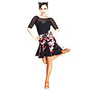 Baile Latino Tutús y Faldas Mujer Representación Encaje Tul Terciopelo Encajes 1 Pieza Cintura Media Falda