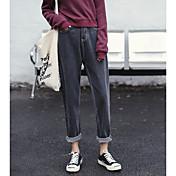 Mujer Moderno Tiro Bajo Microelástico Pantalones Harén Vaqueros Pantalones,Un Color Primavera Verano