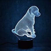 犬のカメは、調光をタッチ3dの夜の光7colorful装飾雰囲気のランプノベルティ照明ライト