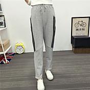 Mujer Sencillo Tiro Alto Microelástico Pantalones de Deporte Pantalones,Corte Recto Un Color
