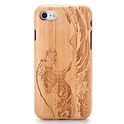 のために ケース カバー エンボス加工 パターン バックカバー ケース 木目 カトゥーン ハード ウッド のために Apple iPhone 7プラス iPhone 7 iPhone 6s Plus iPhone 6 Plus iPhone 6s iphone 6