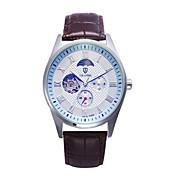 Tevise Hombre Pareja Reloj Deportivo Reloj de Vestir Reloj de Moda El reloj mecánico CuarzoCalendario Resistente al Agua Huecograbado