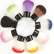 1pcs cabelo sintético topo prego escova da arte brilharam (cor aleatória)