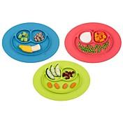 El nuevo bebé del niño 1pcs embroma los platos del tazón de fuente del plato del plato de una sola pieza del placemat del alimento
