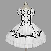 Amaloli Princesa Mujer Chica Una Sola Pieza Vestidos Cosplay Casquillo Sin Mangas Corta / Mini
