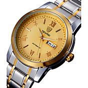 Tevise Hombre Pareja Reloj de Moda El reloj mecánico Cuarzo Calendario Resistente al Agua Luminoso Acero Inoxidable Banda Vintage Casual