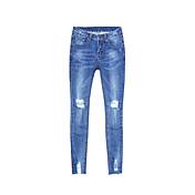 レディース シンプル ストリートファッション ハイライズ タイト マイクロエラスティック ジーンズ パンツ ゼブラプリント
