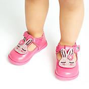 Bebé Chica Zapatos Semicuero Primavera Otoño Confort Bailarinas Pedrería Apliques Cierre Autoadherente para Casual Al aire libre Fiesta y