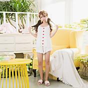 女性の2つのPCの半分の寝間着のスーツノースリーブセクシーな快適なパジャマのスーツ