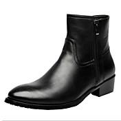 男性用 靴 レザー 秋 / 冬 コンフォートシューズ / アイデア ブーツ ウォーキング ブーティー/アンクルブーツ ブラック
