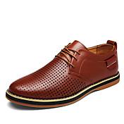 メンズ 靴 PUレザー 春 秋 グラディエーターサンダル オックスフォードシューズ 編み上げ 用途 カジュアル ブラック Brown ブルー