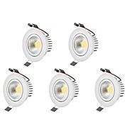 Luces LED Descendentes Blanco Cálido Blanco Fresco LED Bombilla Incluida 5 piezas