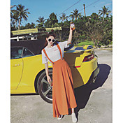 Mujer Simple Casual/Diario Maxi Faldas,Columpio Verano Un Color