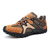 Hombre Zapatillas de Atletismo Confort Cuero Ante Tul Primavera Otoño Deportivo Casual Senderismo Confort Combinación Tacón PlanoGris