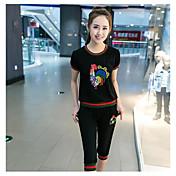 レディース 春 夏 Tシャツ(21) パンツ スーツ ラウンドネック 半袖