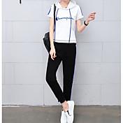 レディース 夏 Tシャツ(21) パンツ スーツ ラウンドネック 半袖