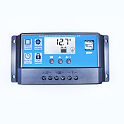 Pwm controlador del cargador solar 40a 12v 24v doble usb 5v 2a salida regulador del panel solar lcd para baterías de plomo abierto agm gel