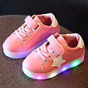 Chica Zapatos Cuero Tul Primavera Verano Otoño Zapatos con luz Zapatillas de deporte Paseo LED Para Casual Blanco Negro Verde claro Rosa