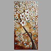 手描きの 花柄/植物の コンテンポラリー 1枚 キャンバス ハング塗装油絵 For ホームデコレーション