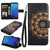 ケース 用途 Samsung Galaxy S8 Plus S8 ウォレット カードホルダー スタンド付き フリップ フルボディー 曼荼羅 ハード PUレザー のために S8 S8 Plus S7 edge S7 S6 S5 S4 S3
