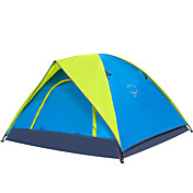 OSEAGLE 3-4人 テント キャンプテント 1つのルーム テント 防湿 通気性 防水 携帯用 防風 抗紫外線 防雨 のために 狩猟 ハイキング 釣り ビーチ キャンピング 旅行 屋外 1500-2000 mm タフタ ナイロン-220*180*120 cm