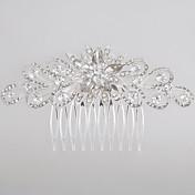 aleación peines peinados casco estilo elegante femenino fiesta