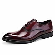 メンズ 靴 レザー 春 秋 フォーマルシューズ ウェディングシューズ 用途 結婚式 カジュアル パーティー ブラック Brown バーガンディー