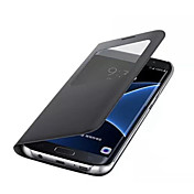 Funda Para Samsung Galaxy J7 Prime J5 Prime con Ventana Cuerpo Entero Color sólido Dura Cuero Sintético para J7 (2016) J7 Prime J5 (2016)