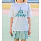 レディース カジュアル/普段着 夏 Tシャツ(21) スカート スーツ,シンプル ラウンドネック ソリッド 半袖
