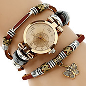 Mujer Niños Reloj de Moda Reloj Pulsera Reloj creativo único Reloj Casual Chino Cuarzo Resistente al Agua PU Banda Creativo Casual Elegant