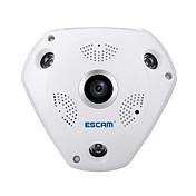 escam®shark qp180 hd 960p h.264 1.3mp 360度パノラマ魚眼赤外線カメラサポートvrボックス