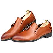 Hombre Zapatos Sintético Primavera Otoño Zapatos formales Zapatos de taco bajo y Slip-On para Casual Oficina y carrera Fiesta y Noche
