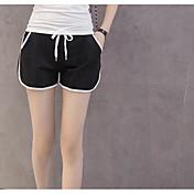 レディース 活発的 ミッドライズ スリム マイクロエラスティック ショーツ パンツ カラーブロック