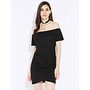 Aliexpress femenino modelos de la explosión del comercio exterior 2017 resorte y falda corta del vestido del collar del verano falda