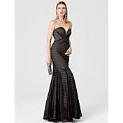 Trompeta / Sirena Escote Corazón Hasta el Suelo Jersey Evento Formal Vestido con Plisado por TS Couture®