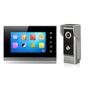 pantalla de metal de 7 pulgadas de color handfree cámara de vídeo función de la memoria del teléfono con la visión nocturna