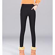 Mujer Diario Tallas Grandes Básico Legging - Un Color Media cintura