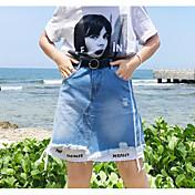 レディース Aライン お出かけ 膝上 スカート カラーブロック 夏