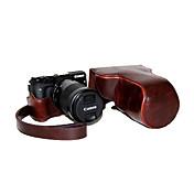 cuero dengpin pu estuche de la cámara desmontable cubierta de la bolsa con correa para el hombro para Canon EOS m3 eos-m3 (colores