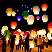 Lámpara china de la vela de la mosca del cielo del fuego de la linterna de la alta calidad del color 10pcs / set para las linternas del