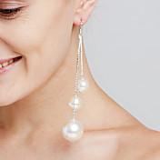 Mujer Pendientes colgantes Perla artificial Personalizado Lujo Sensual Euramerican joyería película Joyería Destacada Moda Cobre Forma de