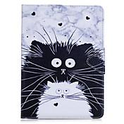 ケース 用途 Apple iPadのミニ4 iPadのミニ3/2/1 iPadの4/3/2 iPad Air 2 iPad Air カードホルダー ウォレット スタンド付き フリップ フルボディーケース 猫 動物 ハード PUレザー のために iPad Mini 4