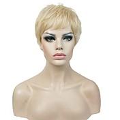 Ženy Syntetické paruky Bez krytky Krátký Rovné Blonde Střih Pixie Přírodní paruka paruky