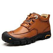 Hombre Zapatos Cuero real Otoño Invierno Botas de Combate Botas Remache Para Casual Negro Marrón
