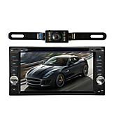 車のラジオオーディオ7インチのインチ液晶タッチスクリーンマルチメディアビデオDVDプレーヤーGPSナビゲーションブルートゥースワイヤレスバックミラーカメラ