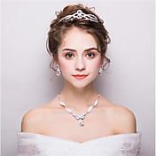 女性用 ラインストーン ファッション ラインストーン 合金 イヤリング・ピアス 髪飾り ネックレス 用途 結婚式 パーティー ウェディングギフト