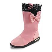 女の子 靴 レザーレット 秋 冬 スノーブーツ ファッションブーツ ブーツ リボン チェーン 用途 ドレスシューズ パーティー ブラック レッド ピンク