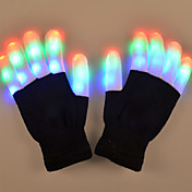 youoklight 1w 6 modo intermitente dedo led guantes de colores regalo 1 par